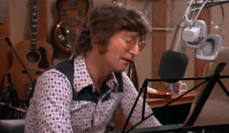 John Lennon in studio, 1971