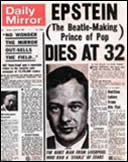 Brian Epstein death announcement