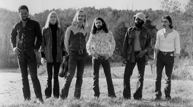 Allman Brothers Band in 1972