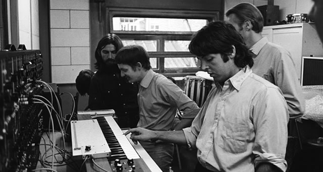 Beatles during Abbey Road sessions