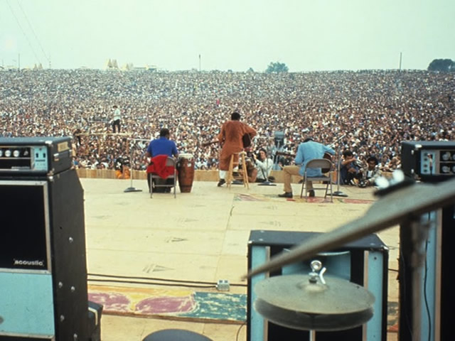 Woodstock from behind the stage