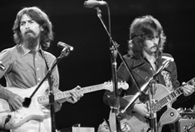 George Harrison and Eric Clapton in 1970
