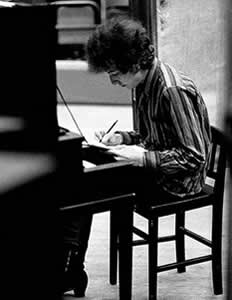 Bob Dylan writing Highway 61 Revisited