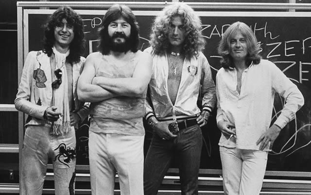 Led Zeppelin in 1975