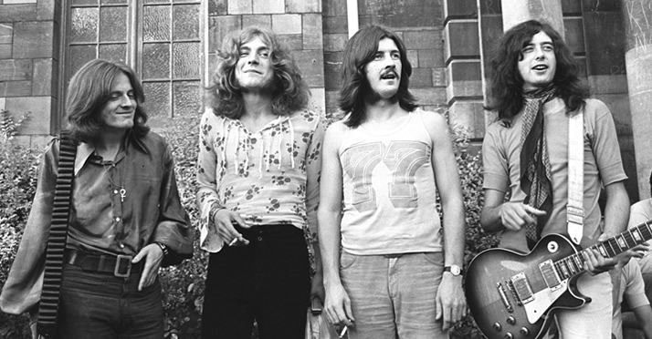 Led Zeppelin in 1976