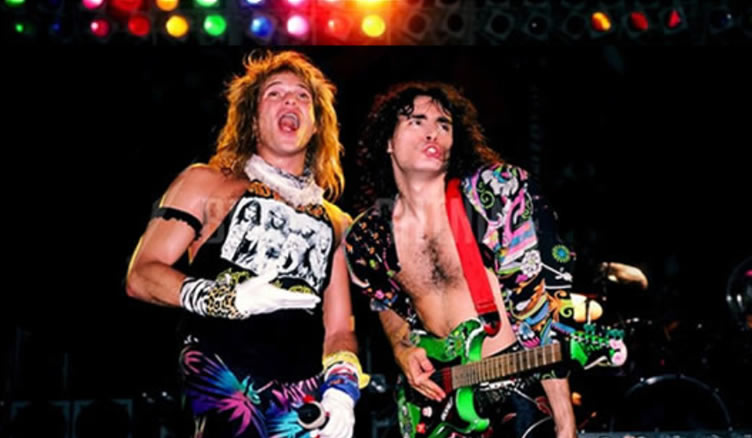 David Lee Roth and Steve Vai